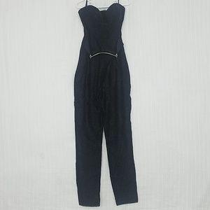 bebe Strapless Lace Jumpsuit, EUC